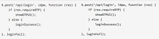 Droid Sans Mono vs Source Code Pro   Left: Droid Sans Right