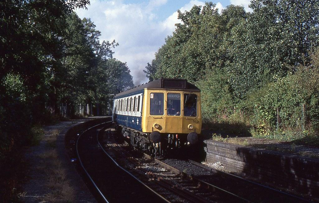 BR Suburban DMU Set T419 at Barnt Green, 3rd. September 1990 by Crewcastrian