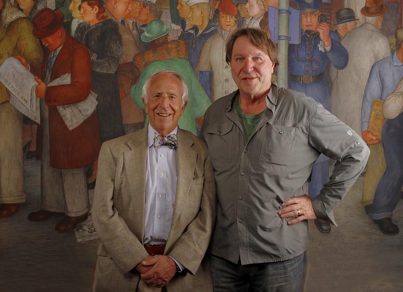 Judge Breyer and Bennett at Coit Tower shoot