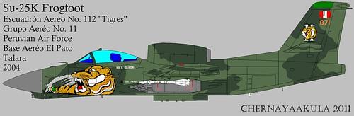 Early artist impression of Soviet RAM-J (Su-25 'Frogfoot')-Peru | by Motschke