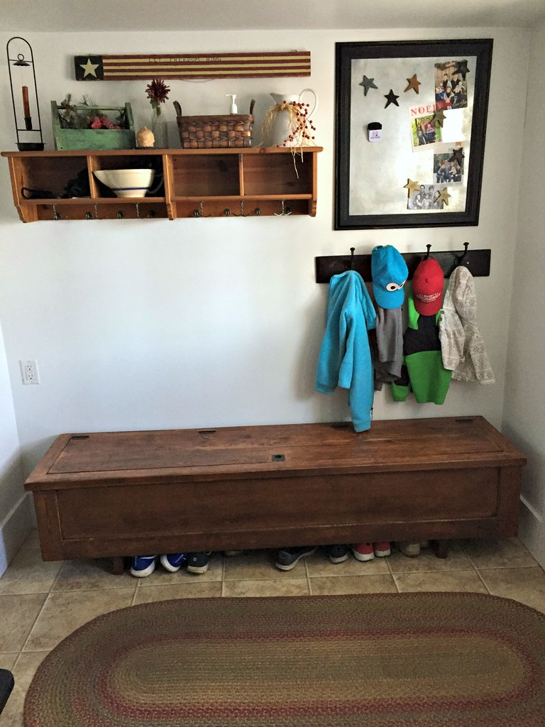 neat and organized mudroom