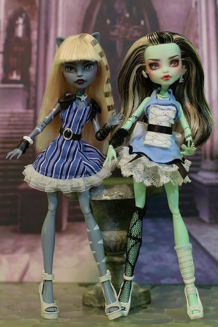 Alice inspired Werecat and Frankie dolls