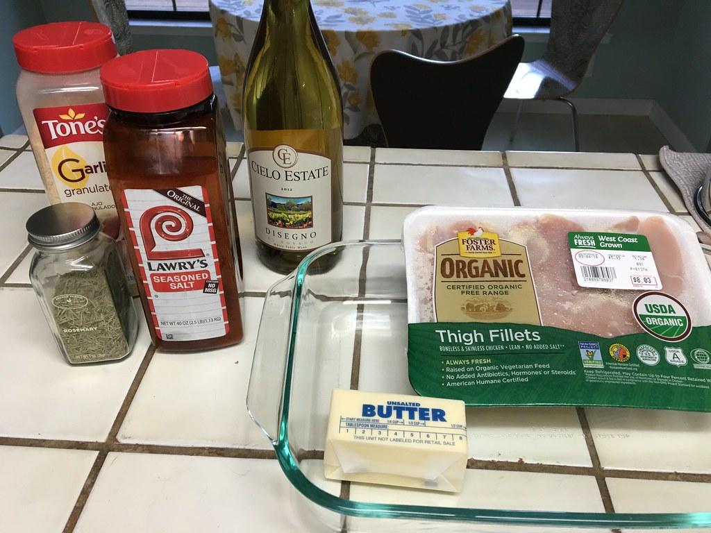 Ingredients needed for Rosemary Chicken #thelovelygeek