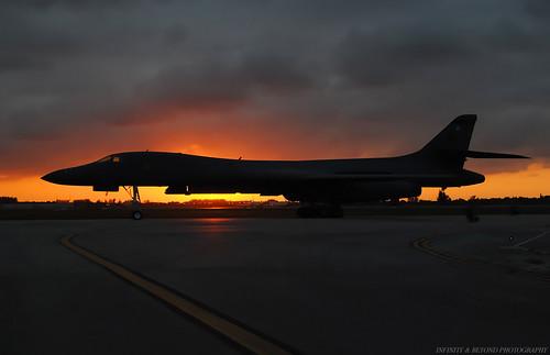 flickr explore rockwell boeing b1b strategic bomber bone aircraft airplane usaf sunset silhouette explored