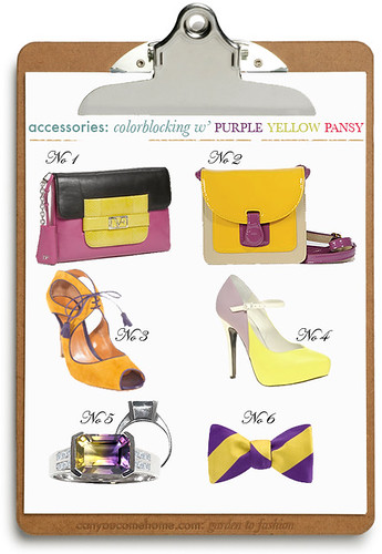 Colorblocking-by-Nature-Purple-Yellow-Acessories | by StarletStarlet