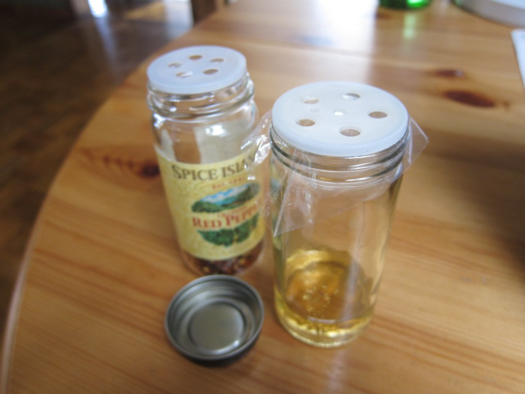 Spice bottle Fruit Fly trap.