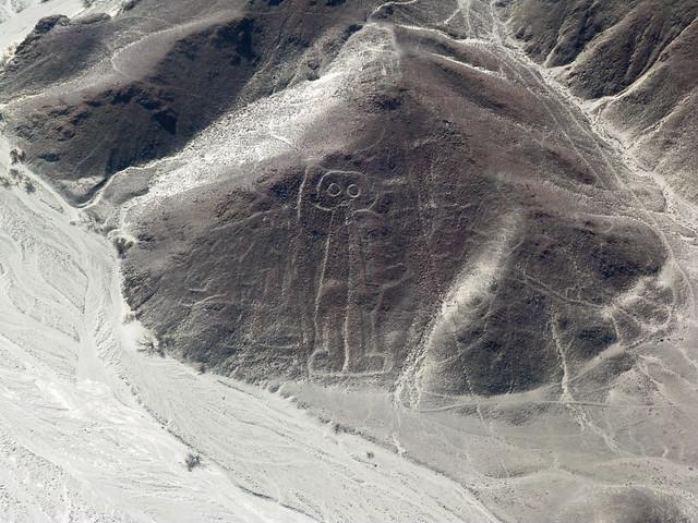 El astronauta (Líneas de Nazca en Perú)