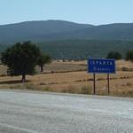 Entering Isparta province