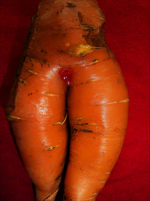 the carrot lady with her chilli heart