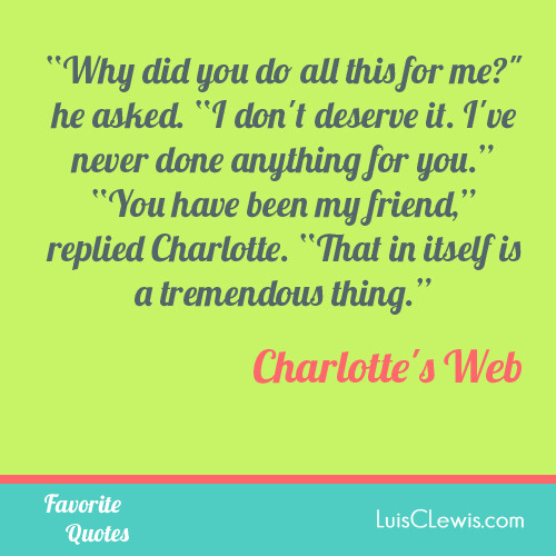 Charlotte\'s Web Quotes | www.luisclewischildrensbooks.com ...
