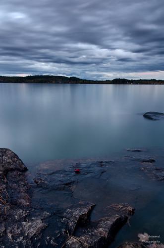 sunset lake water night rocks maine foliage sabattus sabattuslake timgrimmelphotography