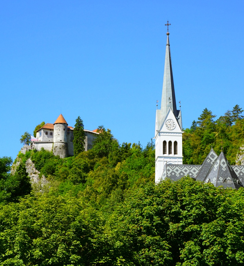 Lake Bled Slovenia Church and Caastle