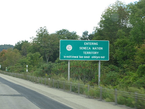 Entering Seneca Nation, I-86 Westbound | by Ken Lund