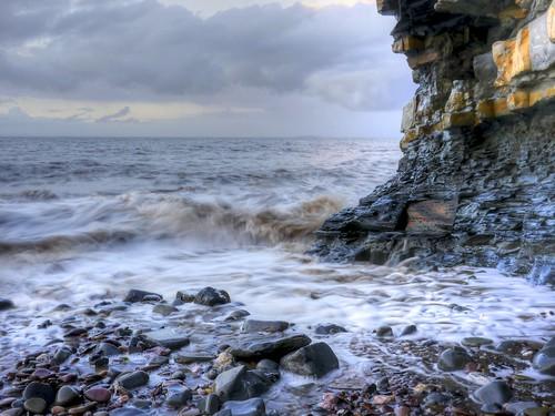 sunset coast rocks somerset cliffs goldenhour eastquantoxhead