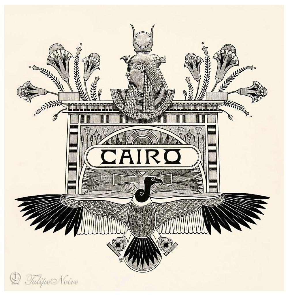 Postcard] A Lovely Egyptian Motif Holds Both Goddess Hath