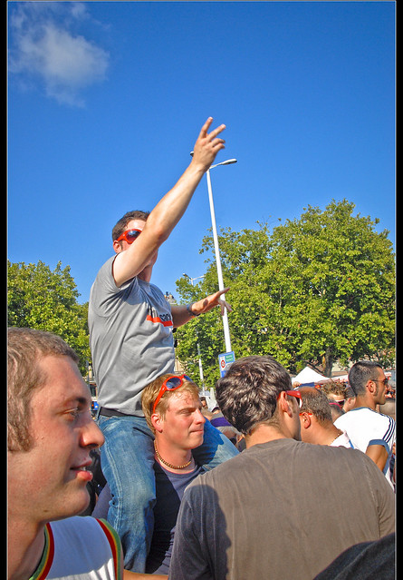 Street Parade happiness. Zurich in August 11, 2007. No, 129.