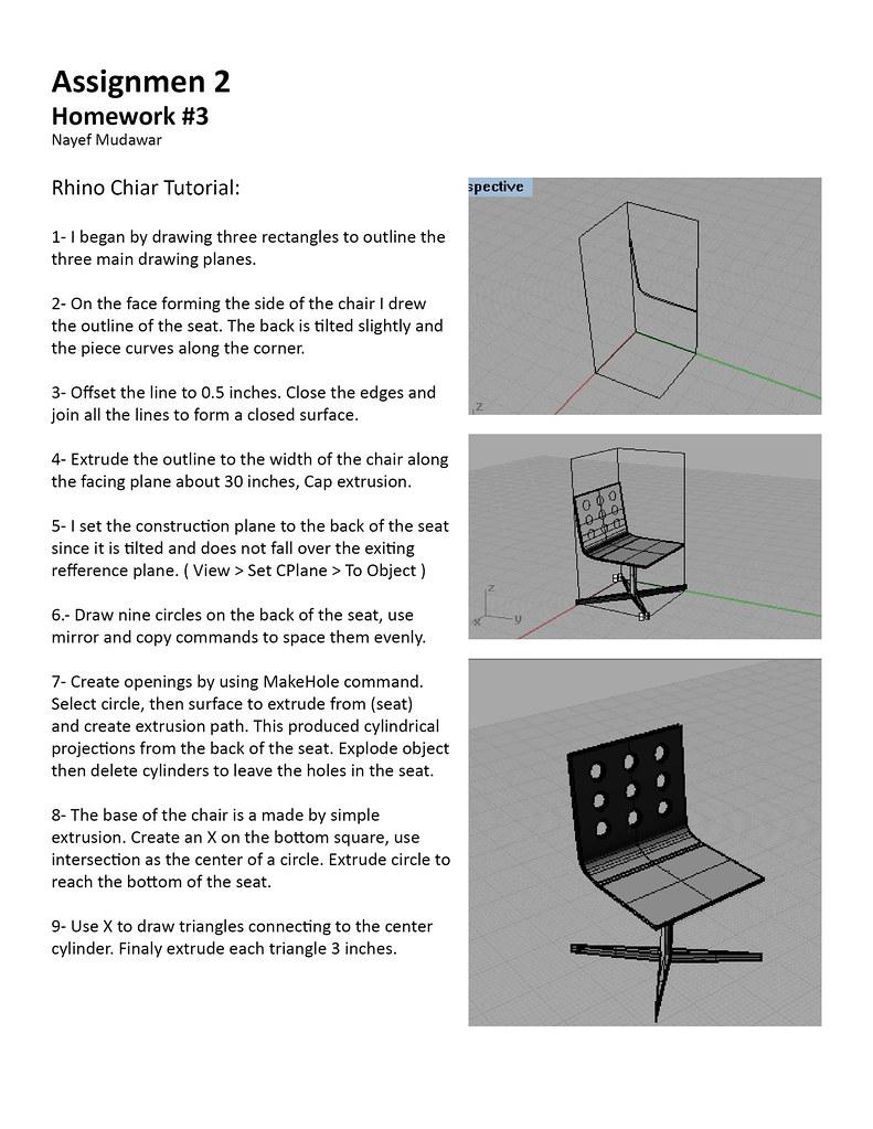 rhino chair tutorial | The rhino tutorial did not show the c