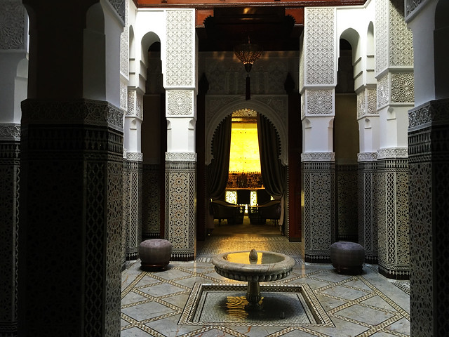 Royal Mansour fountain