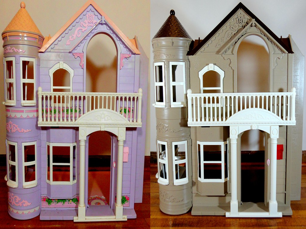 Before and After Barbie Dollhouse! | This was a lot of fun  … | Flickr