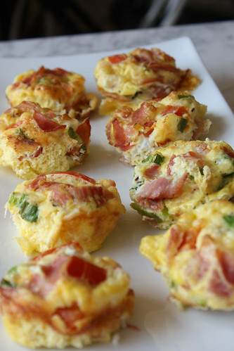 Egg, Prosciutto & Tomato Muffins | by kissmywhisk