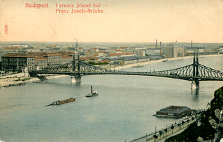 Budapest - Franz Josef Bridge (1911 Postcard)