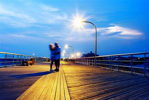 beach night couple ngc lovers timeexposure boardwalk jonesbeach flickraward