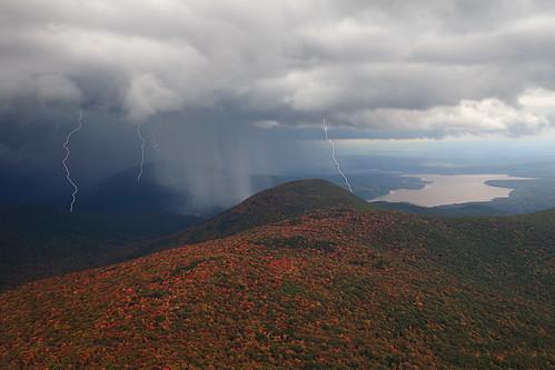 new york autumn snow storm color fall look leaves rain hail club out view reservoir tyler ashokan summit vista strike lightning catskills spark moutain wittenberg 3500