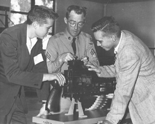 Demonstration of a Model 50 cal machine gun at the 1953 Science Day
