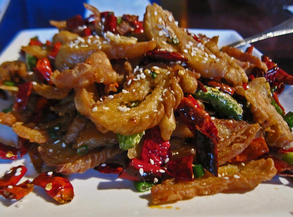 Hot Crispy Pork Intestine | From the oddly named Fugu Restau… | Flickr