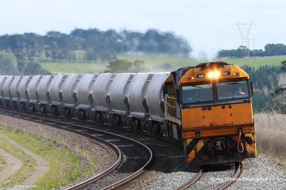 NR66 & NR31 haul a load of Limestone by Corey Gibson