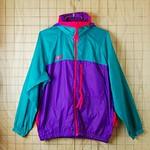 古着 コロンビア-パープル×グリーン×ピンク(紫×緑×ピンク)ナイロン100%アウトドア-ナイロンジャケット【Columbia】