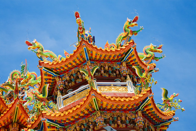 Taiwan Temple roof elements