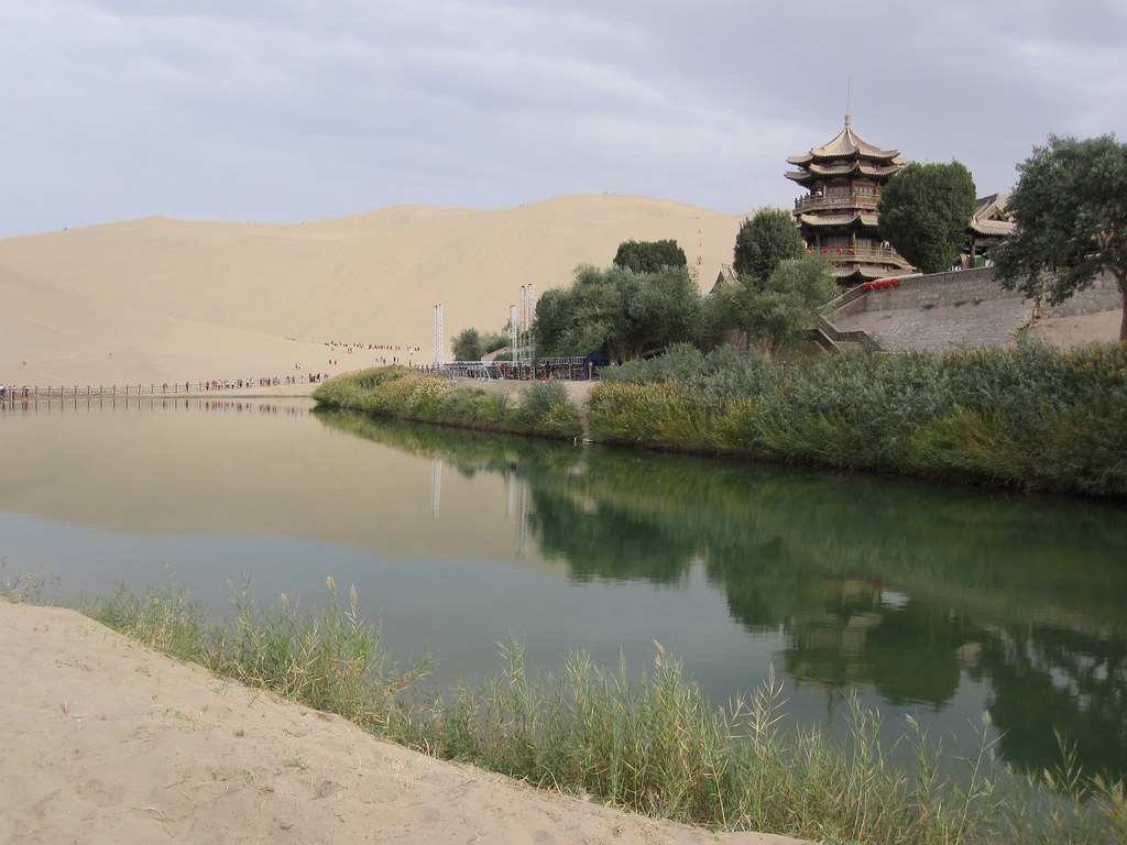 Singing Sand Mountains & Crescent Moon Spring, Dunhuang, Gansu