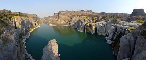panorama river landscape sony cybershot canyon idaho snakeriver sweep shoshonefalls sweeppanorama hx9v