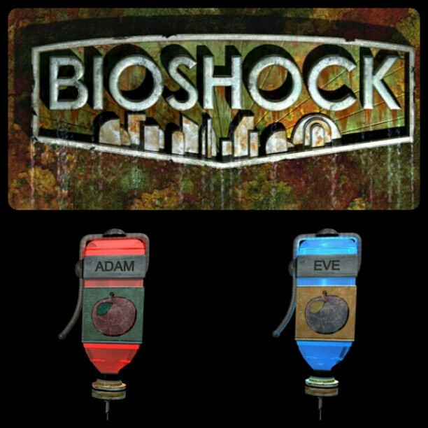 bbead2c17 #Bioshock #anniversary #tattoo for hubs and I? Possibly.... #hypo  #videogame #game #adam #eve