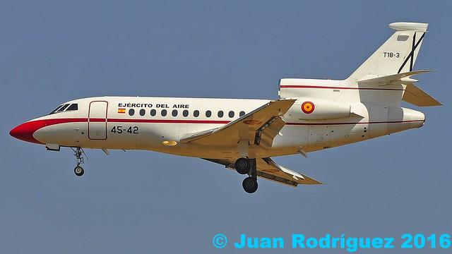 T18-3 - Fuerza Aerea Española (Spanish Air Force) - Dassault Falcon 900B - PMI/LEPA