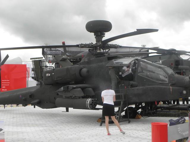 An Apache gunship at the 2010 Farnborough Air Show