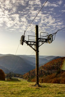 Old cableway in HDR   by josian8