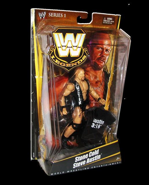 Stone Cold Steve Austin Autographed Mattel WWE LEGENDS Series 1 Figure