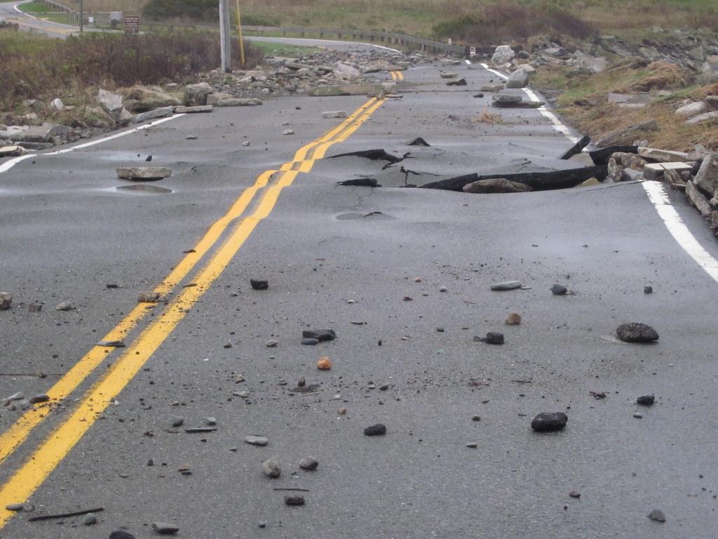 Hurricane damage at Sachuest Point National Wildlife Refuge (RI)