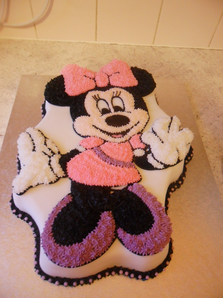 Outstanding Walt Disney Minnie Mouse 2Nd Birthday Cake A Photo On Flickriver Personalised Birthday Cards Veneteletsinfo