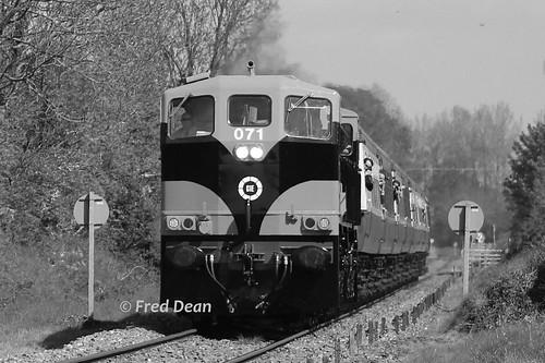 Irish Rail 071 at Kilsheelan.