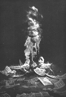 The Oxy (Occidental College) game bonfire in 1939