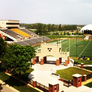 Gustavus Football Field! From the roof of Beck!