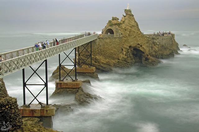 Le rocher de la Vierge - Biarritz