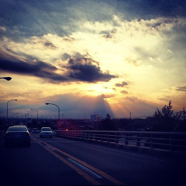 long road sky sky sunset sun angel cloud moment roa flickr