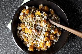 farro, butternut, pepitas, ricotta salata | by smitten kitchen