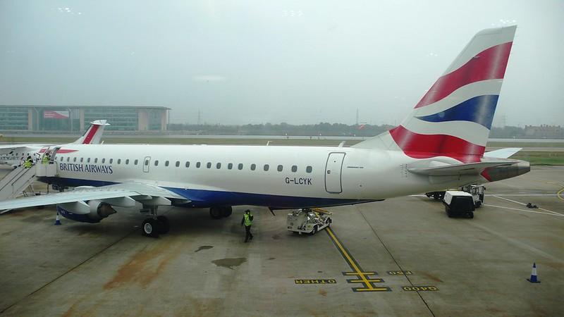 Plane at London City