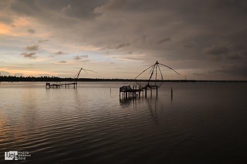sea india lake fish tourism kerala kochi backwater chinesefishingnets cohin pachalam