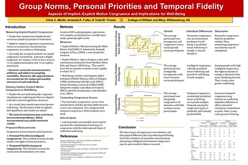 Poster - Group Norms, Personal Priorities and Temporal Fidelity
